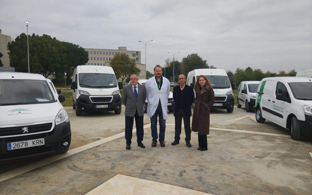 El SAS incorpora cinco nuevos vehículos para dar servicio a las necesidades del Área Sanitaria Norte