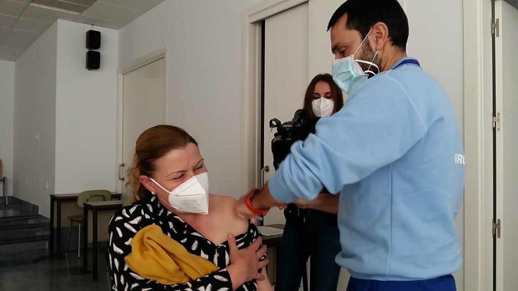 Salud pone en marcha un nuevo punto de vacunación en Riotinto para mejorar la comodidad de usuarios y profesionales